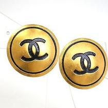 Auth Chanel Coco Mark Earring Metal Gold(bf065183) Photo