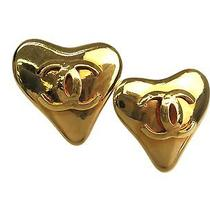 Auth Chanel Coco Mark Earring Metal Gold(bf065456) Photo