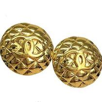 Auth Chanel Coco Mark Earring Metal Gold(bf065784) Photo