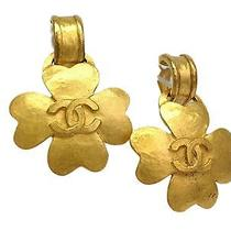 Auth Chanel Coco Mark Earring Metal Gold(bf065785) Photo