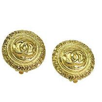 Auth Chanel Coco Mark Earring Metal Gold(bf067032) Photo