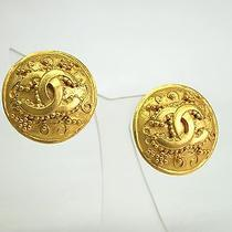 Auth Chanel Coco Mark Earring Metal Gold(bf067033) Photo