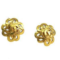 Auth Chanel Coco Mark Earring Metal Gold(bf067036) Photo
