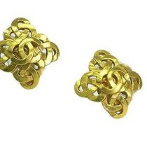 Auth Chanel Coco Mark Earring Metal Gold(bf067038) Photo