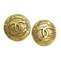 Auth Chanel Coco Mark Earring Metal Gold(bf067039) Photo