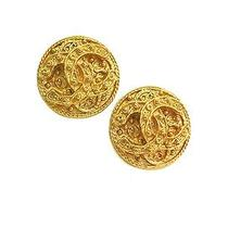 Auth Chanel Coco Mark Earring Metal Gold (Bf067687) Photo