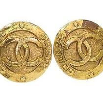 Auth Chanel Coco Mark Earring Metal Gold (Bf070306) Photo