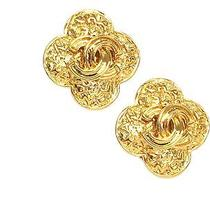 Auth Chanel Coco Mark Earring Metal Gold (Bf071316) Photo