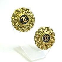 Auth Chanel Coco Mark Earring Metal Gold / Black (Bf061625) Photo