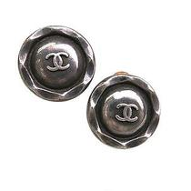 Auth Chanel Coco Mark Earring Metal Silver (Bf055885) Photo