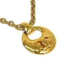 Auth Chanel Coco Mark Necklace Metal Gold (Bf055984) Photo