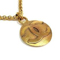 Auth Chanel Coco Mark Necklace Metal Gold (Bf057252) Photo