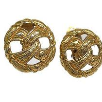 Auth Chanel Earring Metal Gold(bf060327) Photo