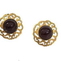 Auth Chanel Earring Metal Gold/red (Bf056866) Photo