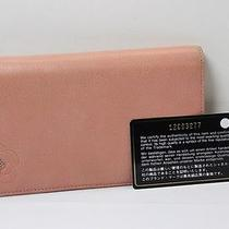 Auth Chanel Leather Long  Wallet Pink Italy 6819 Photo