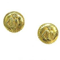 Auth Chanel Mademoiselle Earring Metal Gold(bf061231) Photo