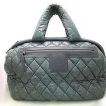 Auth Chanel Nylon Coco Cocoon Shoulder Bag Green Photo