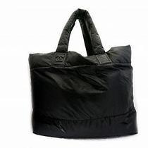 Auth Chanel Nylon Coco Coon Handbag Tote Bag Black Photo