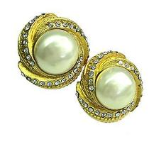 Auth Chanel Pearl Earring Metal Gold (Bf055291) Photo