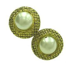 Auth Chanel Pearl Earring Metal Gold(bf060325) Photo