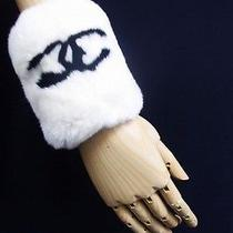 Auth Chanel Rabbit Fur Wristband Free Shipping World Wide Photo