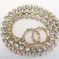 Auth Chanel Signed Austrian Crystal Cc Logo Belt or Necklace  Photo