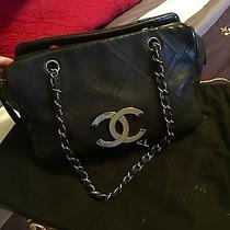 Auth Chanel Stitch Bag Handbag Purse Shoulder Bag Photo