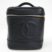 Auth Chanel Vanity Bag Caviar Skin Black A01998 (Bf082434) Photo