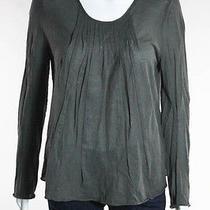 Auth Chloe Dark Gray Cotton Long Sleeve Pleated Shirt Sz S  Photo