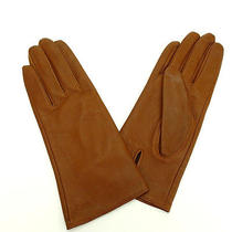 Auth Chloe Gloves Brown Leather M1177 Photo