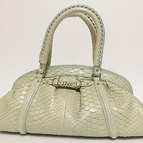 Auth Christian Dior Boston Bag My Dior Pale Green Python Purse Made in Italy  Photo