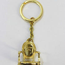 Auth Christian Dior Key Ring Charm Gold Plated 9691c Photo