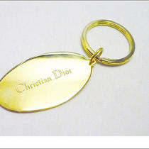 Auth Christian Dior Key Ring Charm Gold Plated A184 Photo