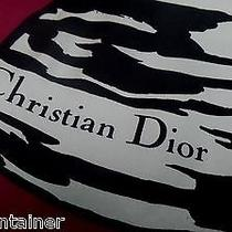 Auth Christian Dior Silk Twill Scarf Cassic Chairs Pink Border Photo