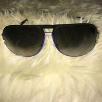 Auth Christian Dior Teardrop Blue Black Sunglasses no.73026 Photo