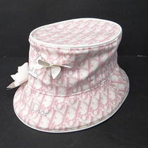 Auth Christian Dior Women's Hat Size 58 Pink 0 Shipping France 03120277500 717b Photo