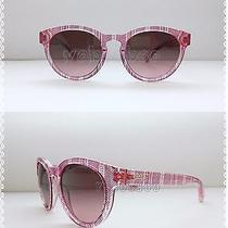 Auth Coach Aria Women Designer Sunglasses Garnet Ticking Stripe Red Pink Cat Eye Photo