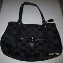 Auth Coach Campbell Signature Belle Carryall  Xl Tote Purse Bag..excellent Cond. Photo