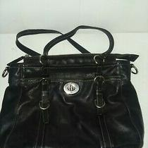 Auth Coach Chelsea Black Leather Large Purse/tote/satchel  F14015 Photo