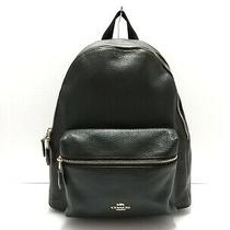 Auth Coach F29004 Black Leather Backpack Photo