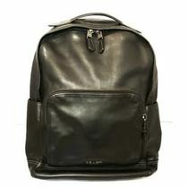 Auth Coach F37599 Black Leather Backpack Photo