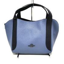 Auth Coach Hadley Hobo 21 Colorblock 88151 Light Blue Darknavy Tote Bag Photo
