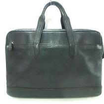 Auth Coach Hamilton Commuter Pebbled Leather F11312 Black Business Bag Photo