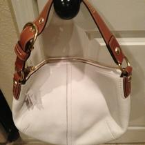 Auth Coach Handbag New Antique White Photo