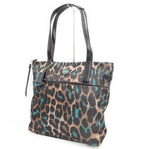 Auth Coach Jade Gateway Ocelot Print Hand Tote Bag 05110161600 2 Photo