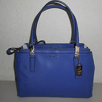 Auth Coach Madison Small Christie Leather Carryall 30128 Lacquer Blue 298 Nwt Photo