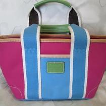 Auth Coach Mini Hampton Weekend Tote Bag Bright & Fun Colors 11