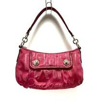 Auth Coach Poppy Story Patch Groovy 15302 Pink Handbag Photo