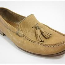 Auth Coach Tan Leather Tassel Loafers Shoes Sz 7.5  Photo