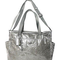 Auth Coach Taupe Patent Leather Diaper Bag Photo